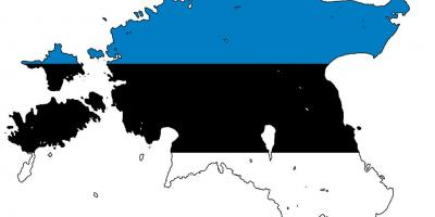 Peta Estonia bendera